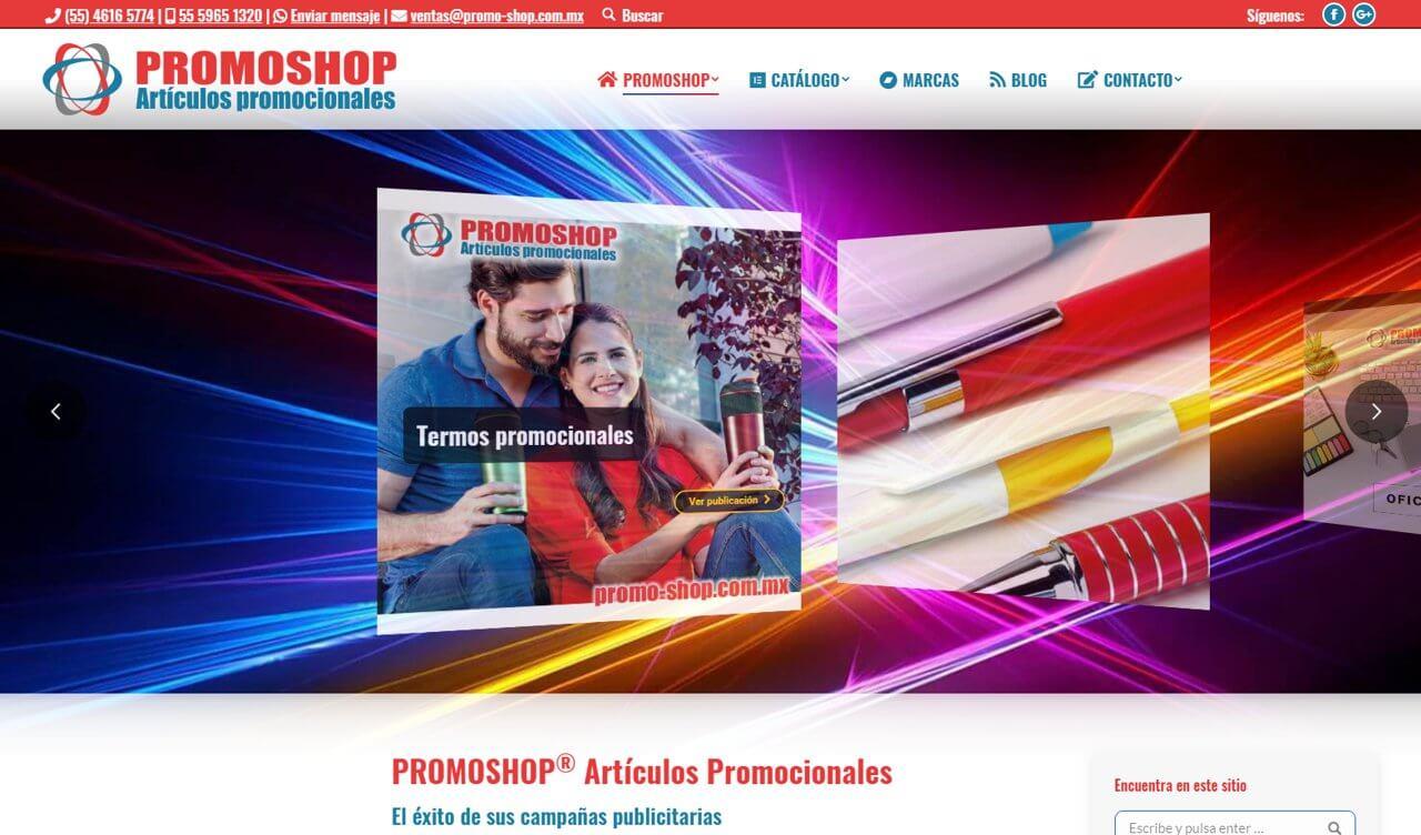 Portafolio Abix Websites: artículos promocionales PROMOSHOP