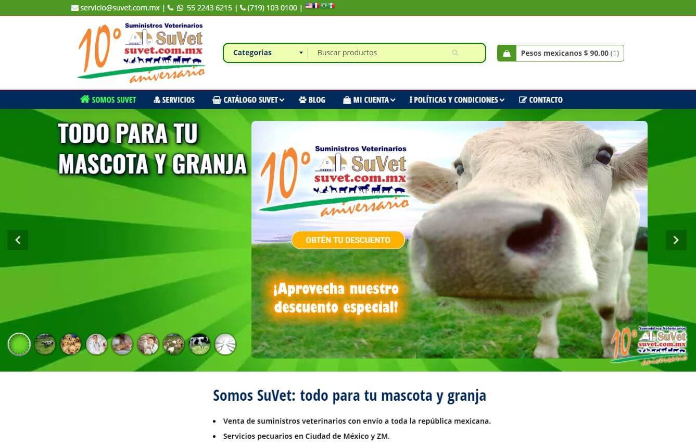 Portafolio Abix Websites: Suministros Veterinarios SuVet
